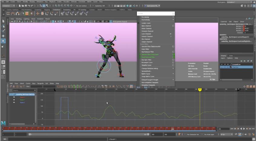 maya 2022 graph editor