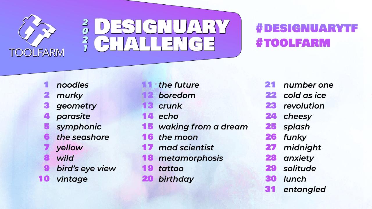 Designuary Challenge at Toolfarm