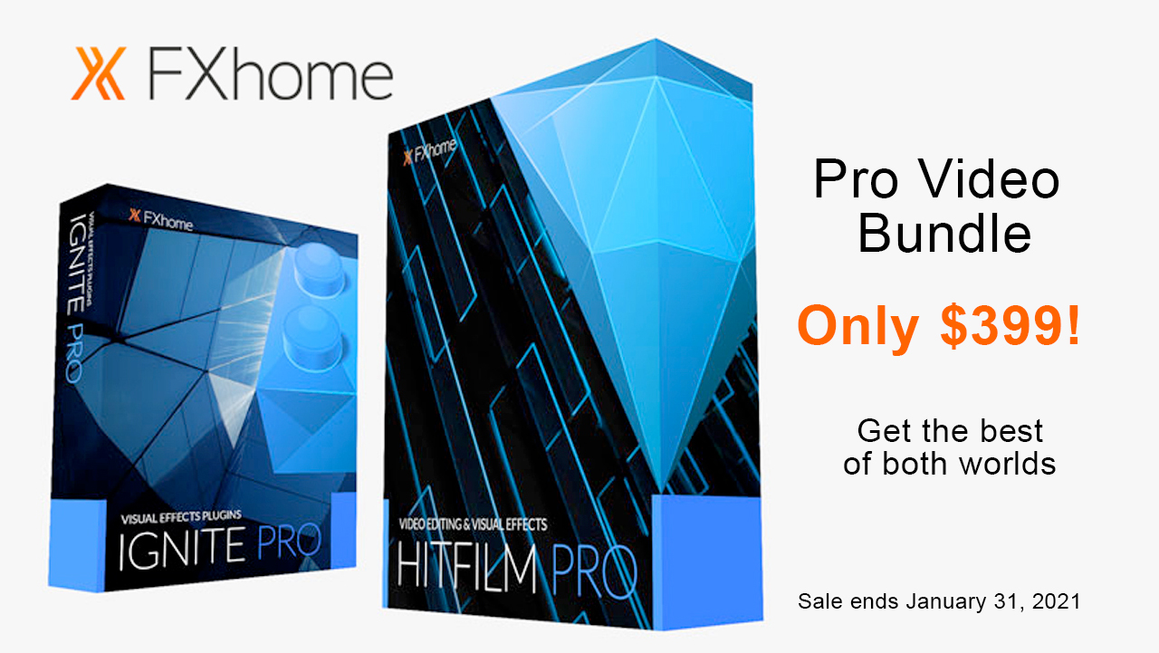 fxhome pro video bundle sale