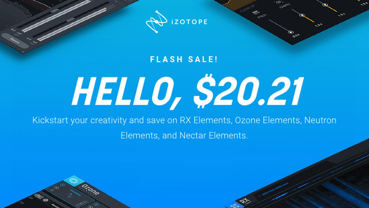 izotope elements flash sale 2021