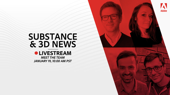 substance and 3d livestream Jan 2021