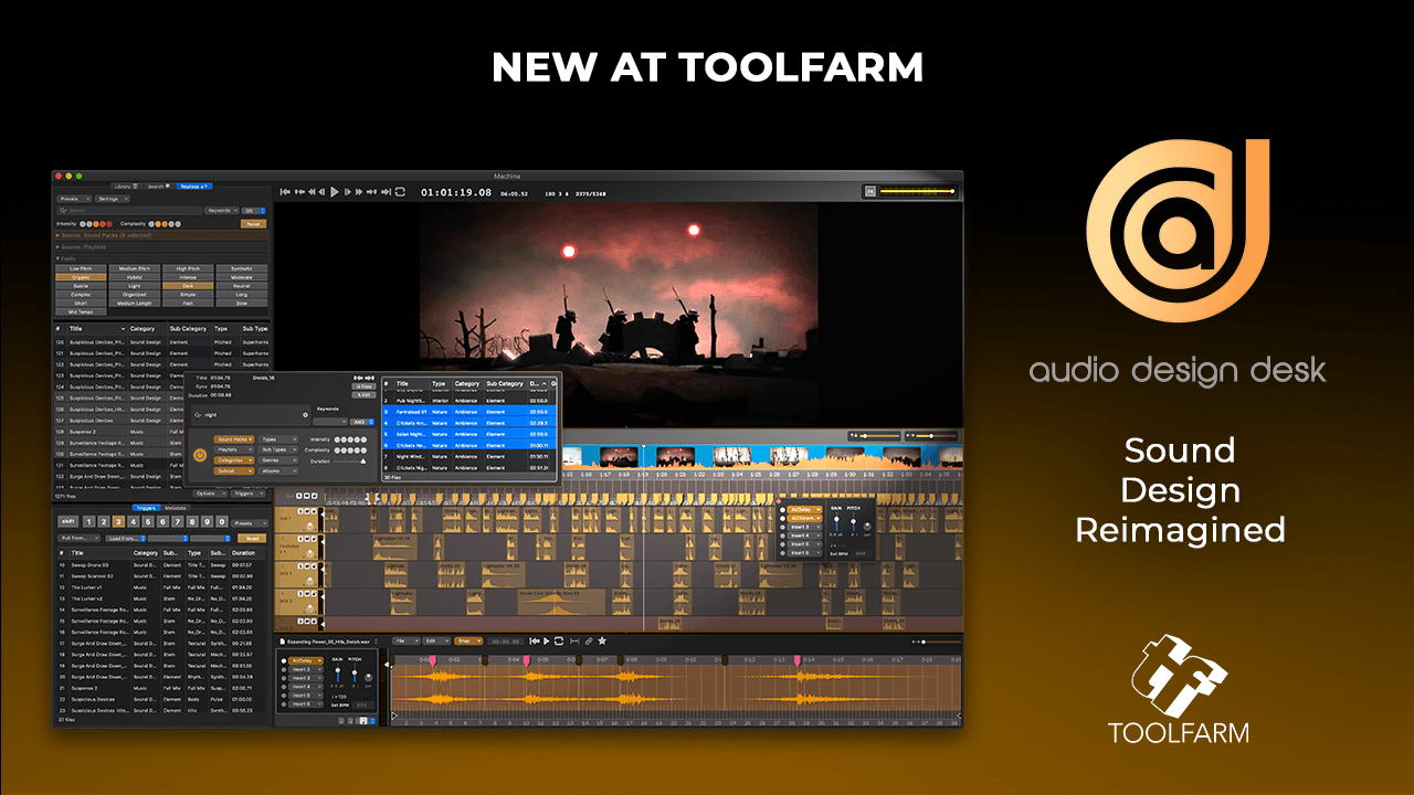 New at Toolfarm Audio Design Desk - Sound Design Reimagined