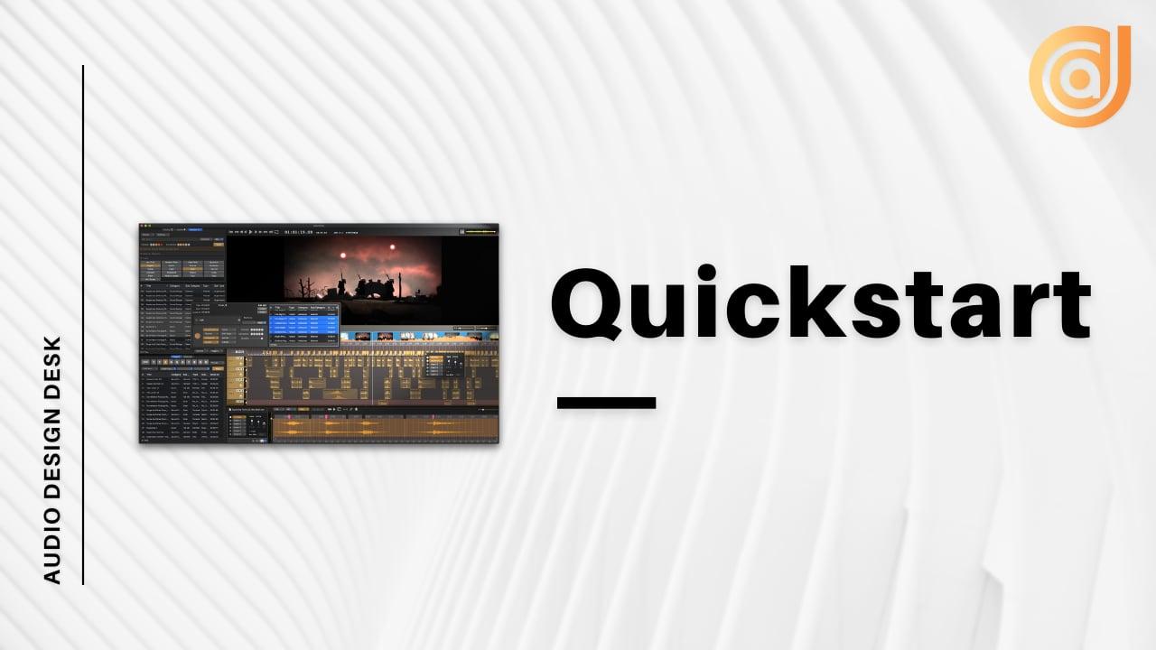 Audio Design Desk QuickStart Guide