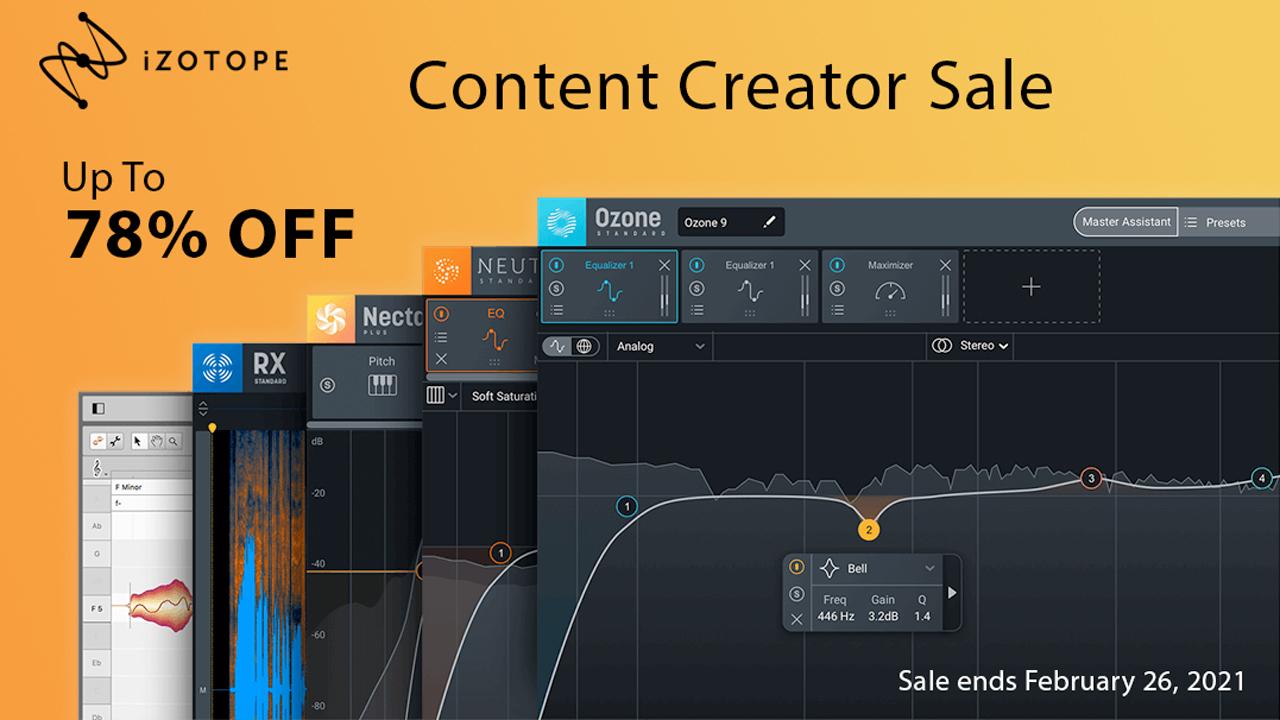 izotope content creator sale