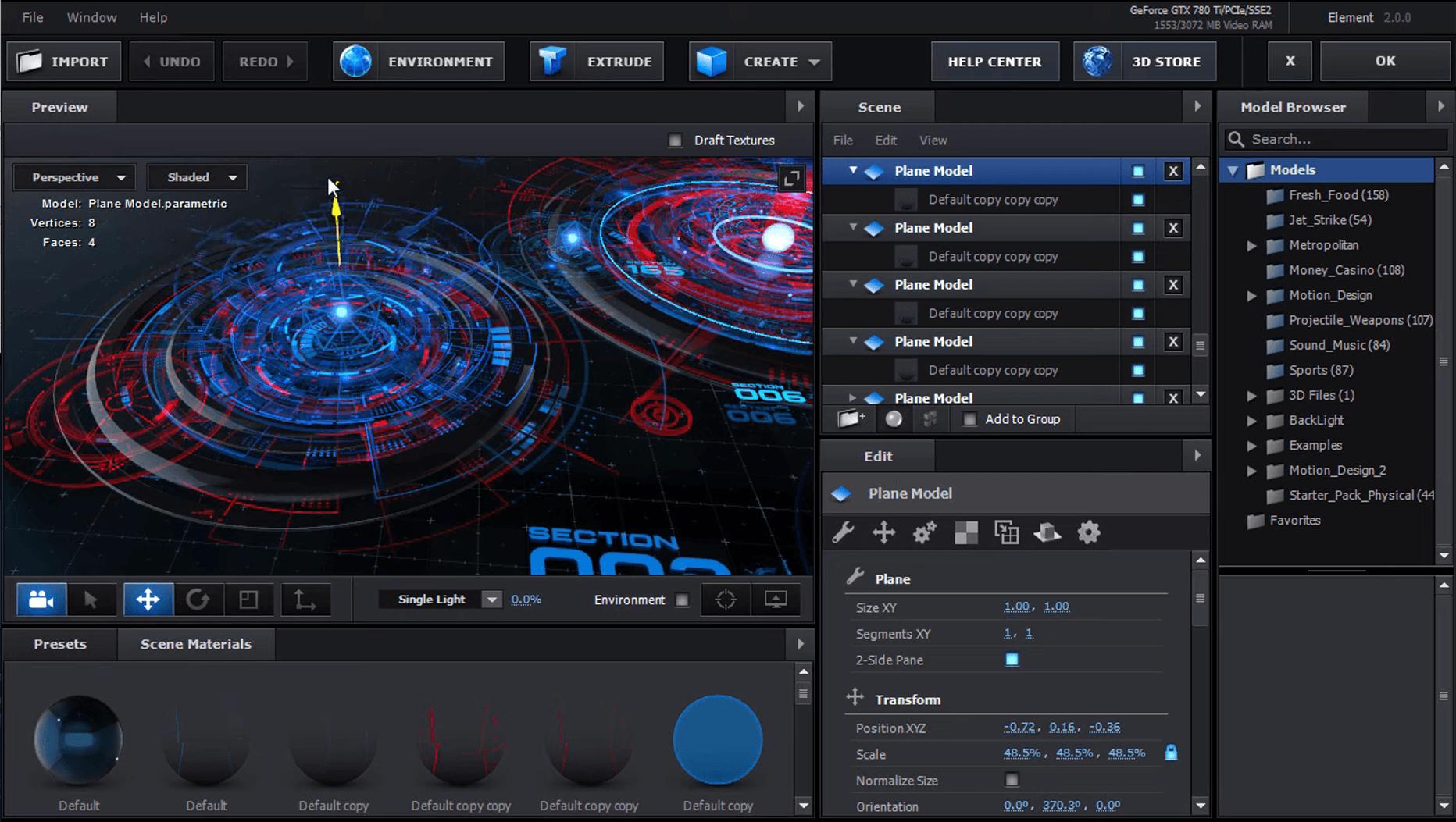 Element 3D Scene Setup