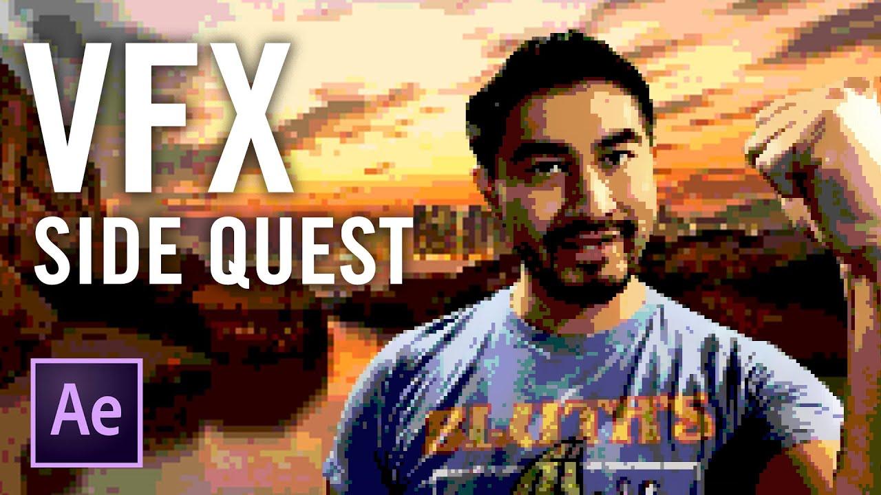 VFX Side Quest Hashi 16 bit retro video game look
