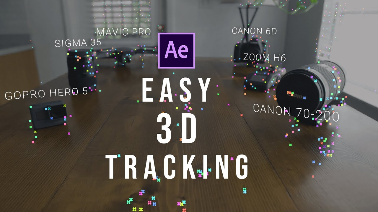 Easy 3D Tracked Text in After Effects