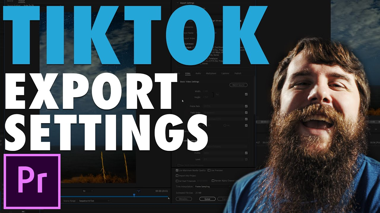 How To Export High-Quality TikTok Videos in Premiere Pro CC + Free Preset