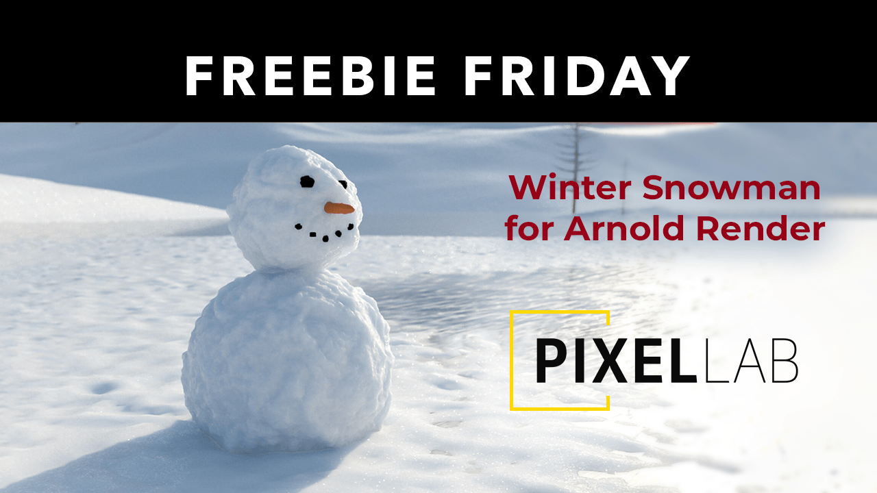 Freebie Friday: Cinema 4D Snowman Model for Arnold Render