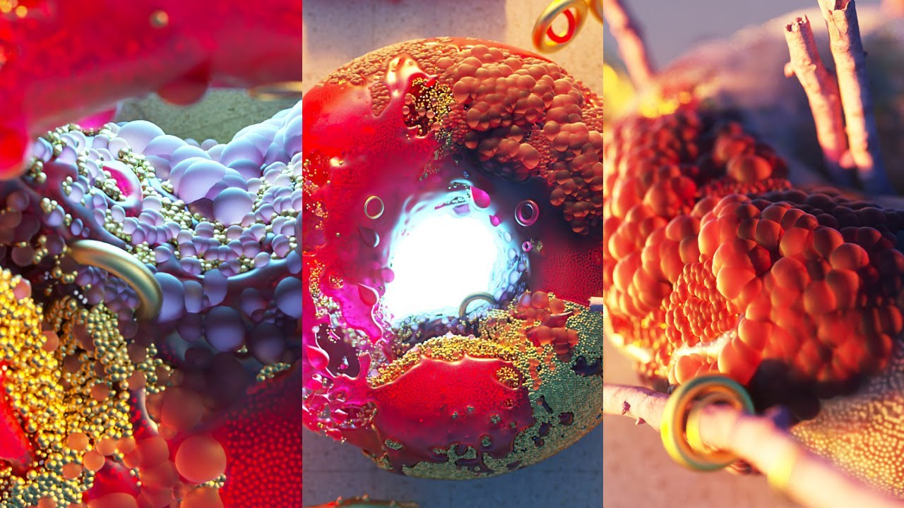Create a Liquid Donut using Cinema 4D, X-Particles, and Octane