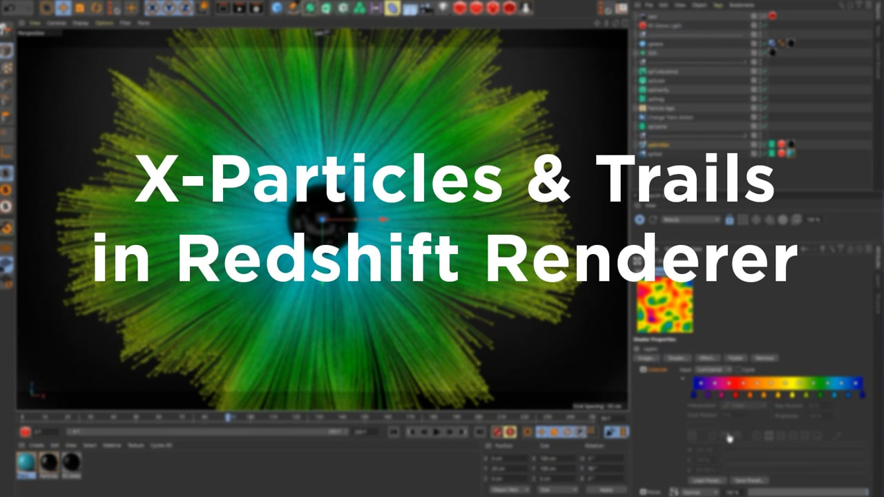 X-Particles & Trails in Redshift Renderer by Equiloud