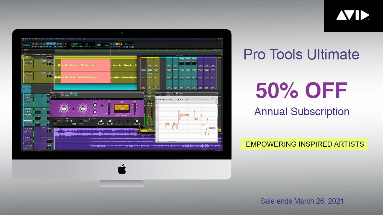 pro tools 50% off