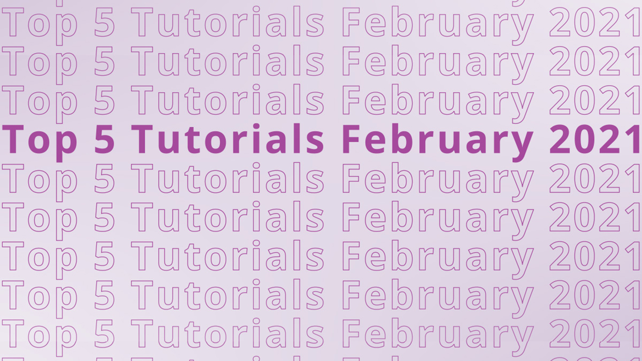 Top 5 AFTER EFFECTS Tutorials in February 2021