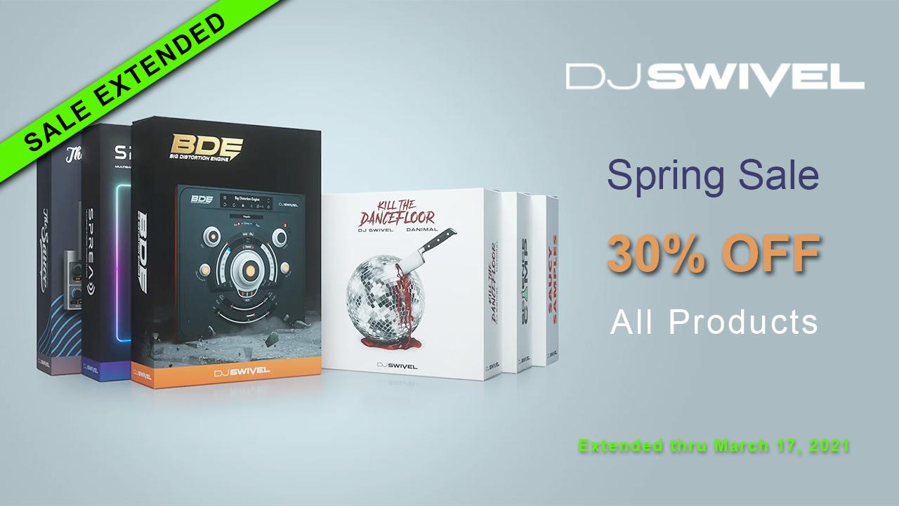 djswivel spring sale extended