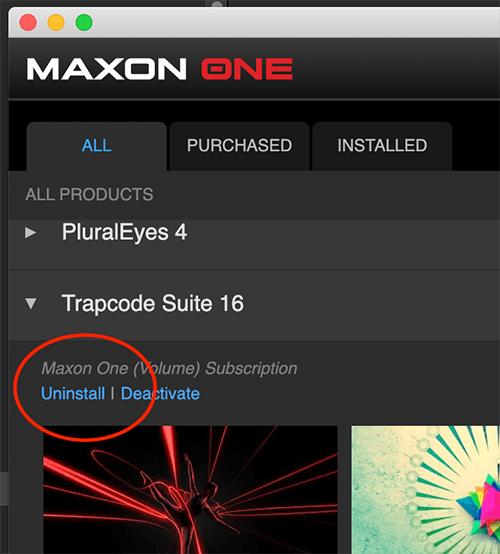 Uninstall Trapcode Suite