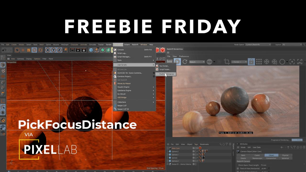 Freebie: PickFocusDistance for Cinema 4D