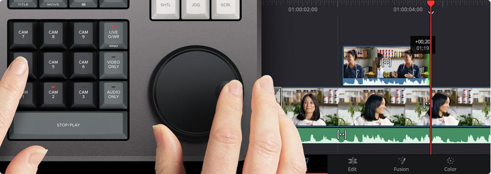 blackmagic speed editor multicam