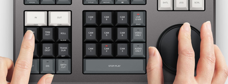blackmagic speed editor dial