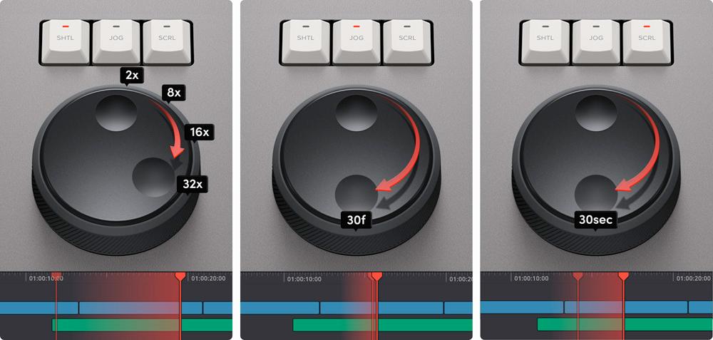 DaVinci Resolve Speed Editor Keyboard transport control
