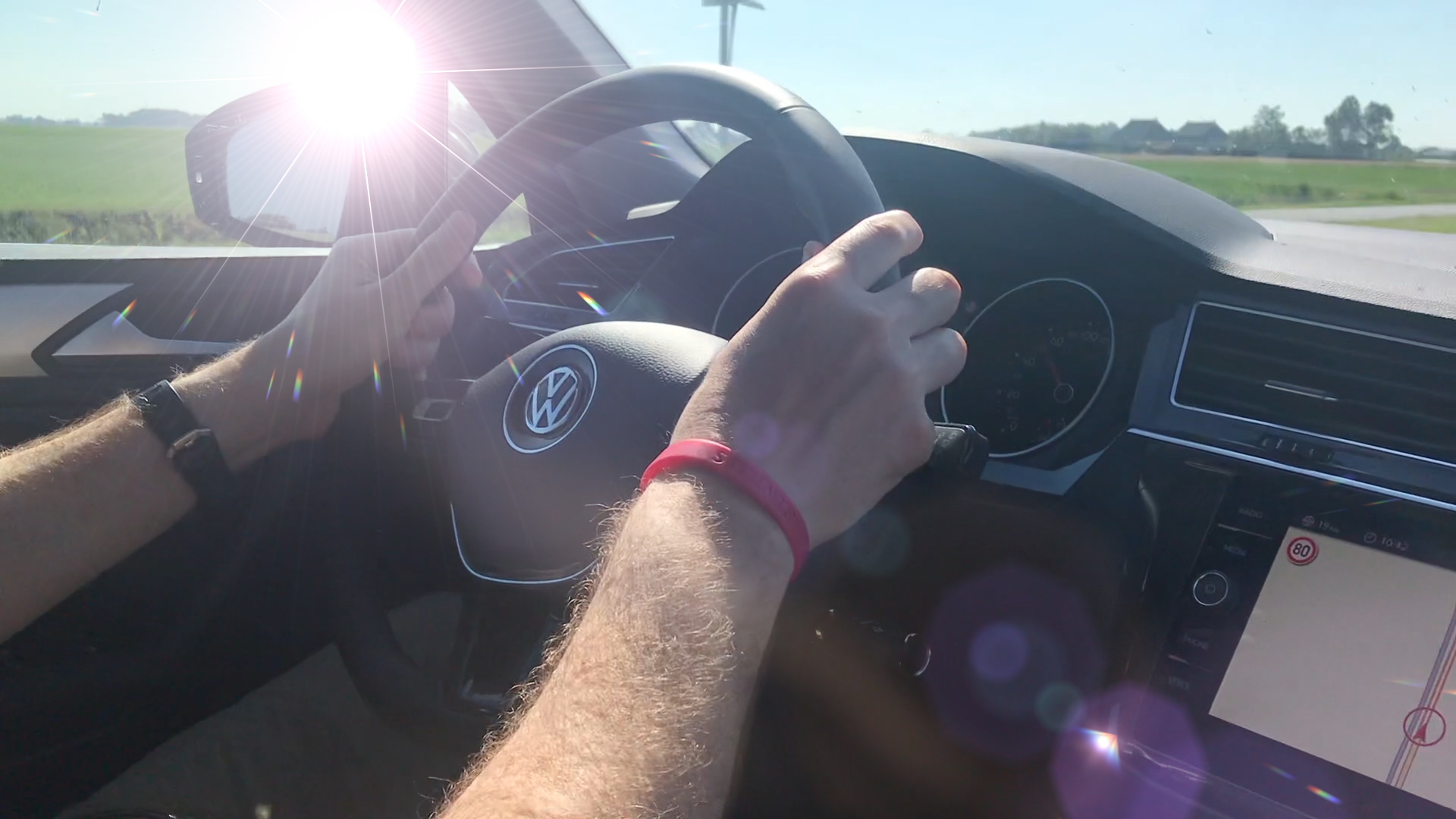Boris Sapphire LensFlare applied to video