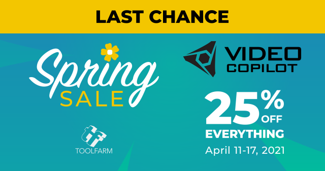 video copilot spring sale