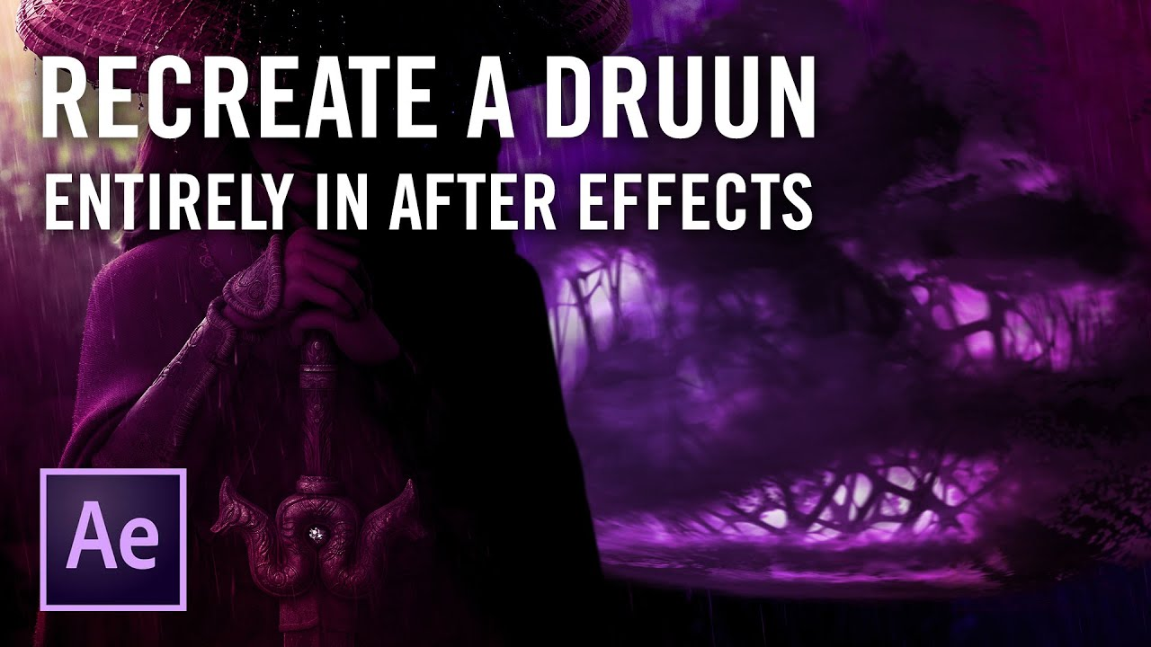"Recreate a Druun from ""Raya and the Last Dragon"" in After Effects"