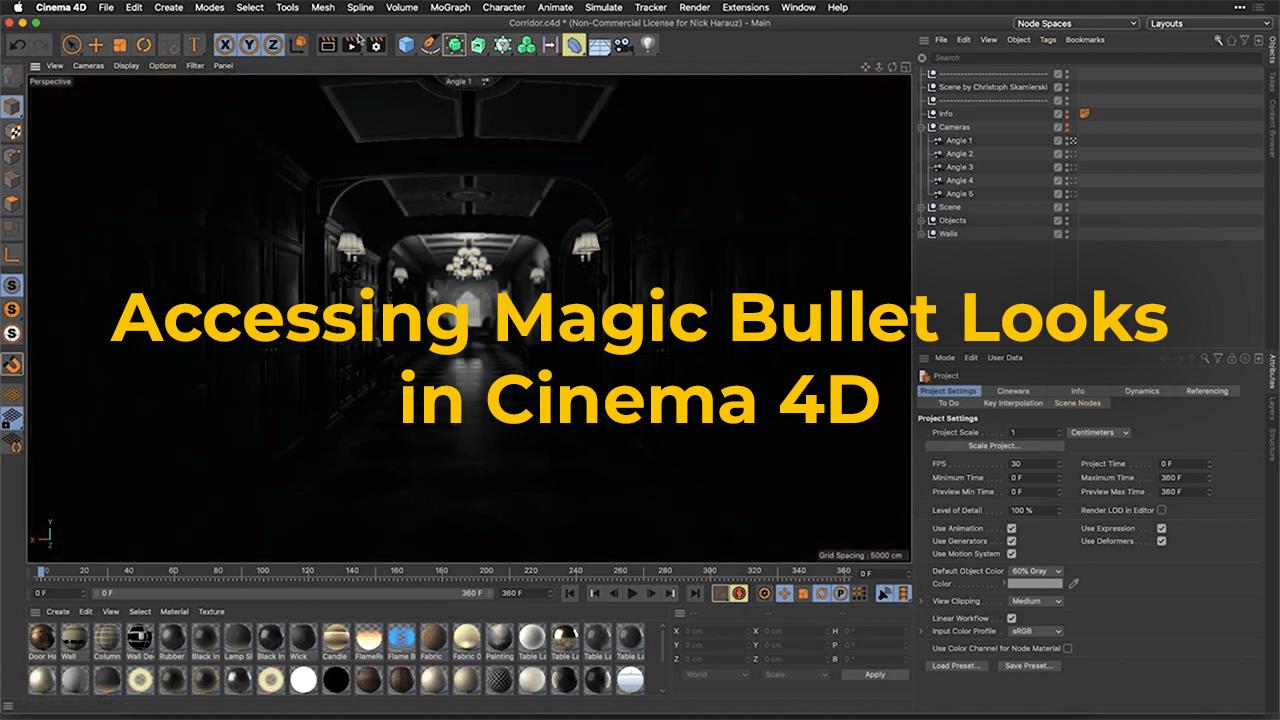 Access Magic Bullet Looks in Cinema 4D