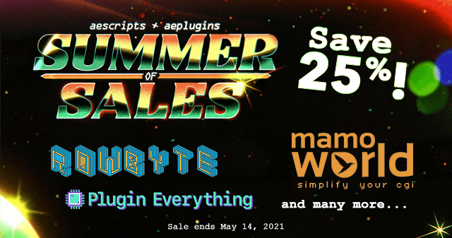 aescripts+aeplugins Summer of Sales 2021