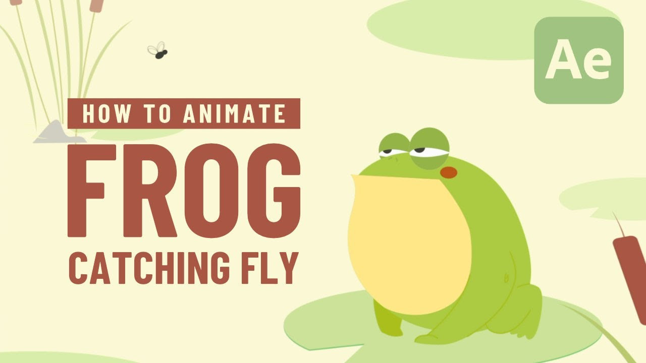 Frog Catching Fly Animation - After Effects Tutorial