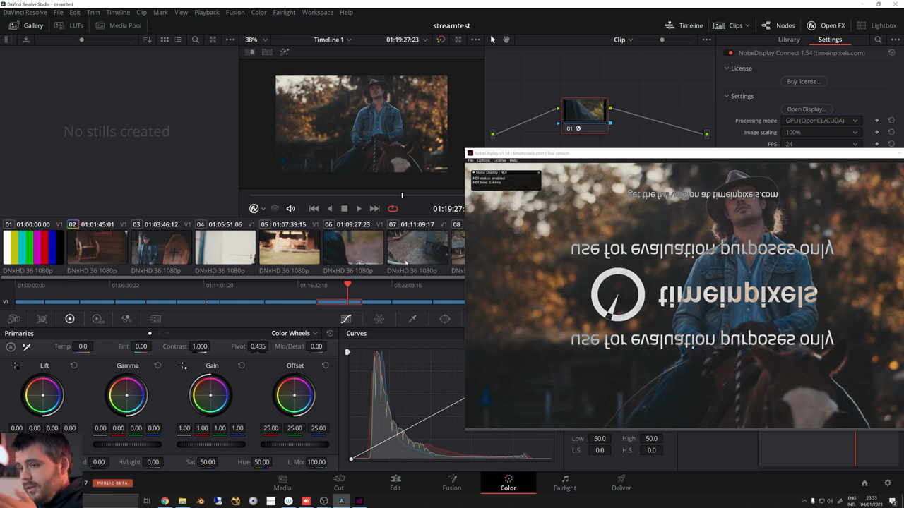 Livestream Video & Audio Output from DaVinci Resolve using NDI and OBS