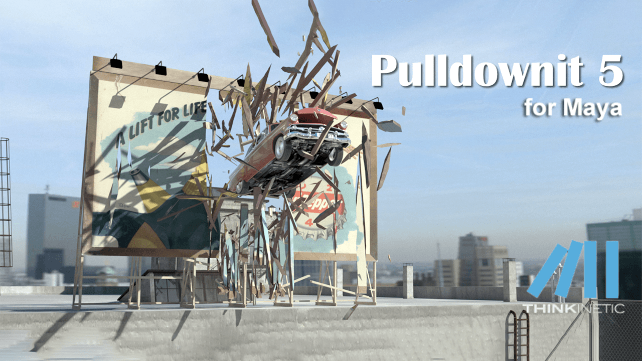 New: Pulldownit 5 for Maya Now Available