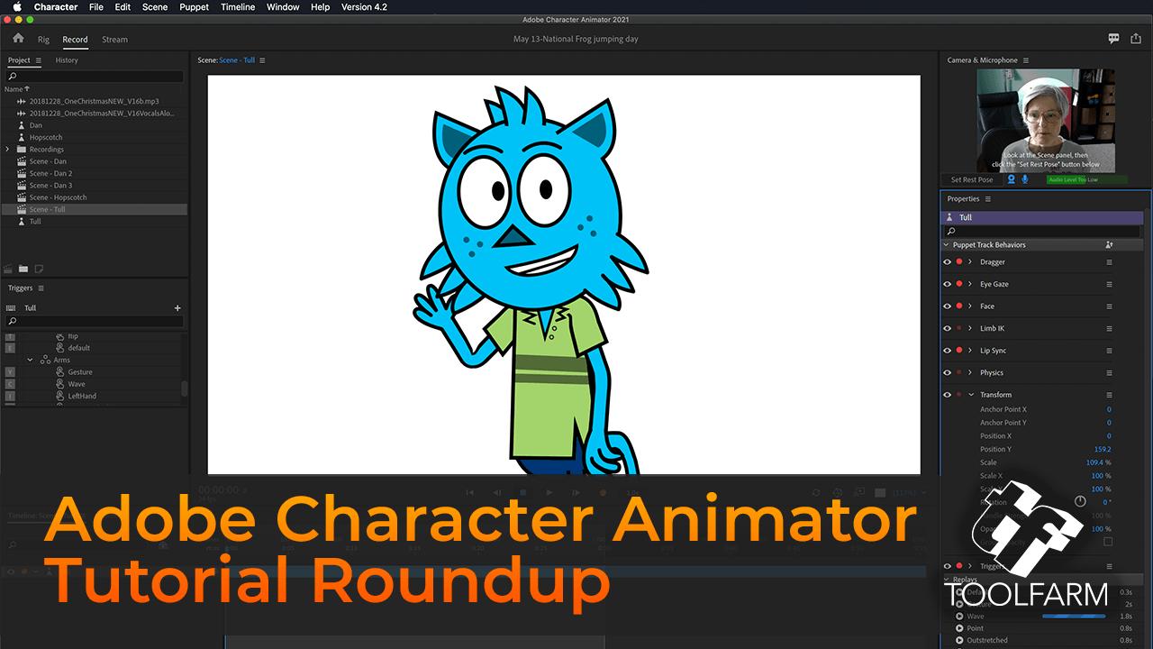 Adobe Character Animator Tutorial Roundup
