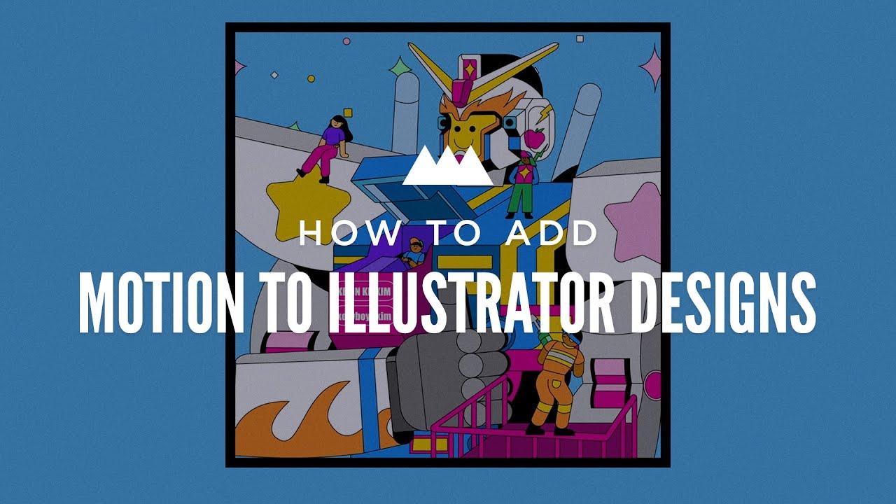 add motion to illustrator designs tutorial