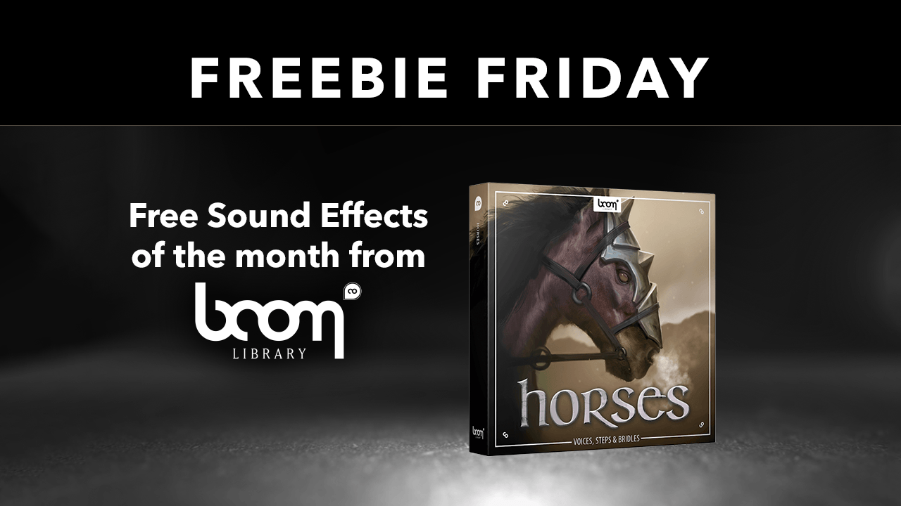 Freebie Friday Horses boom library