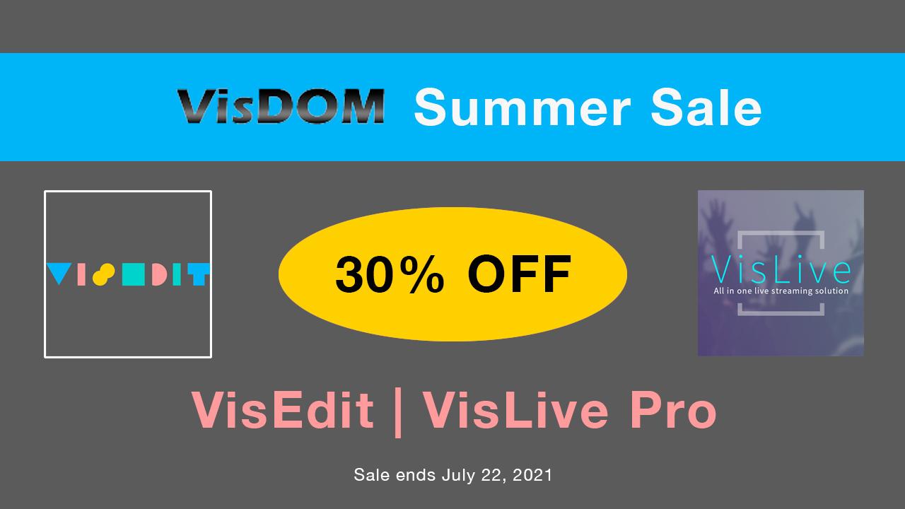 visdom summer sale