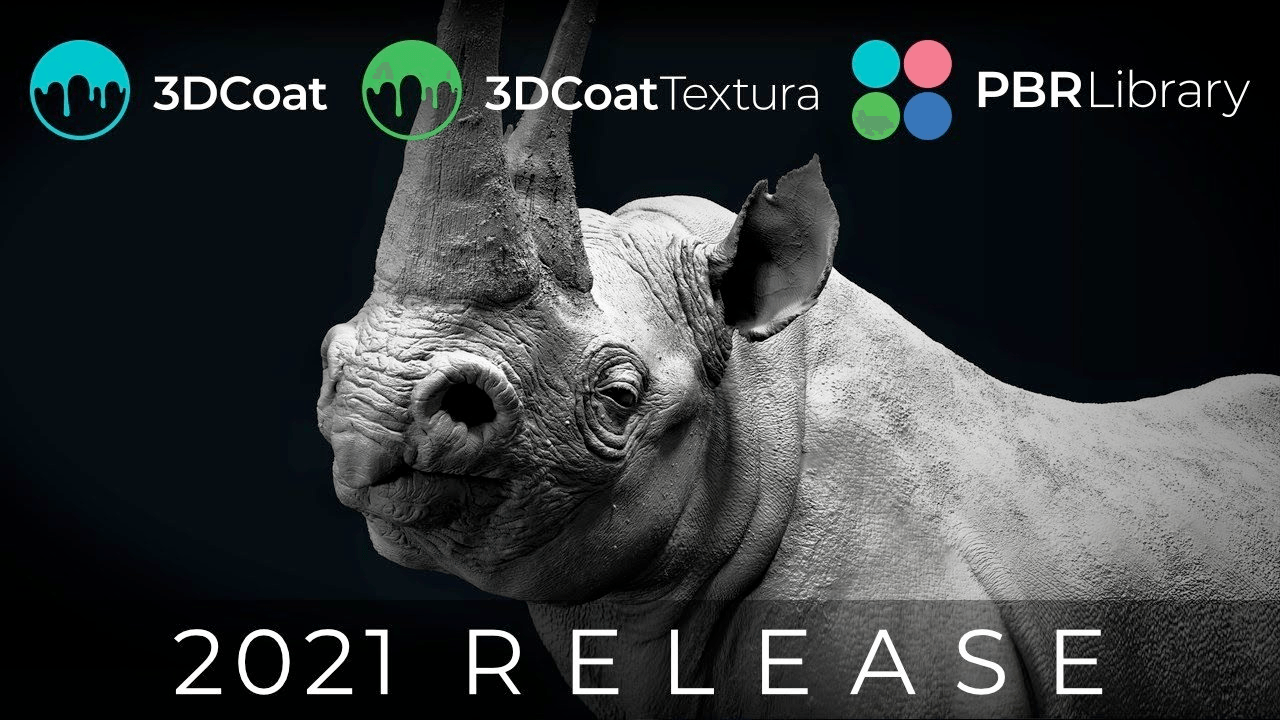 New: 3DCoat 2021 and New 3DCoatTextura, Intro Sale