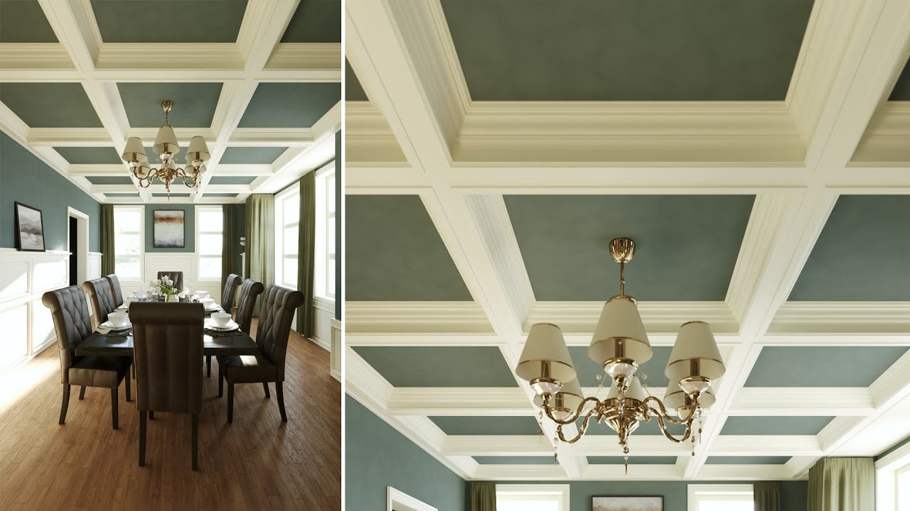 Creating a Procedural Coffered Ceiling with 3ds Max and RailClone