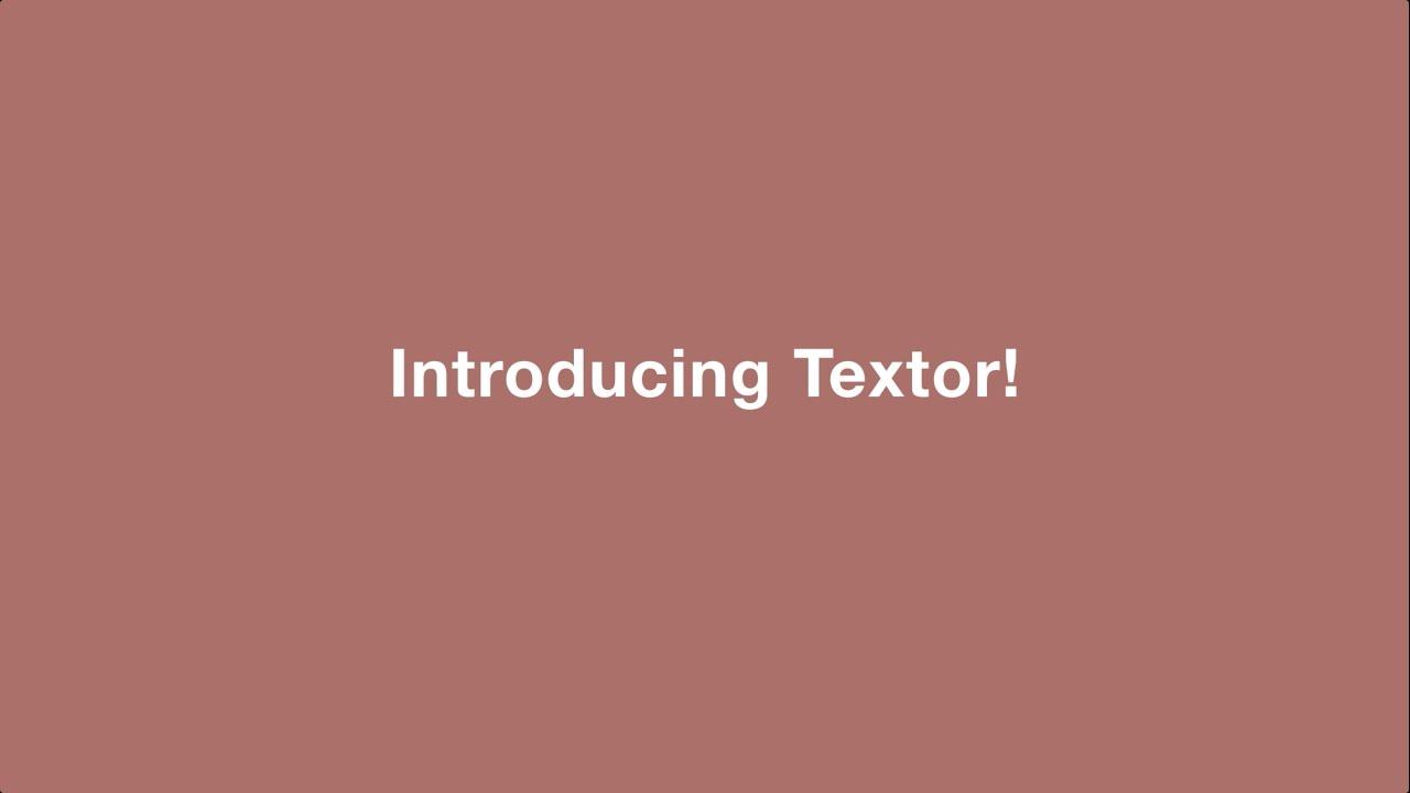 textor tutorial