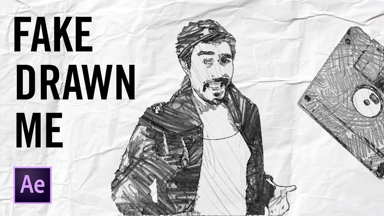 """Fake Drawn Me: """"Take On Me"""" Music Video VFX Tutorial"""