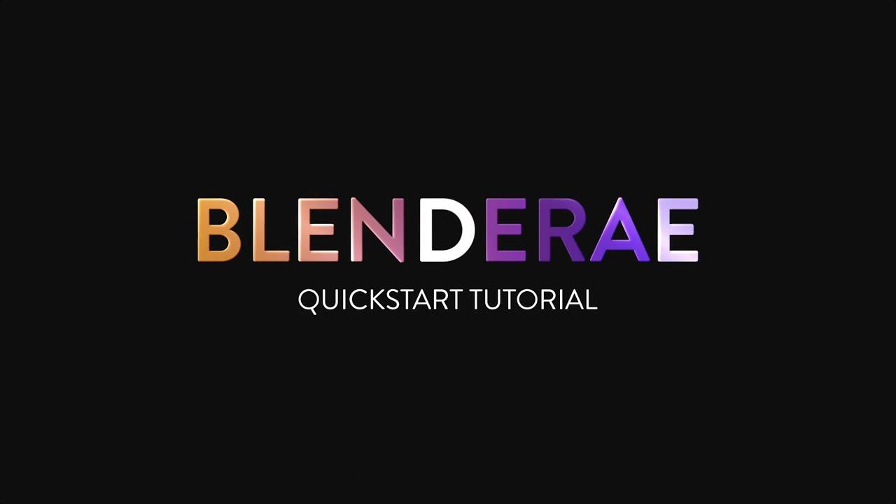 blenderAE tutorial