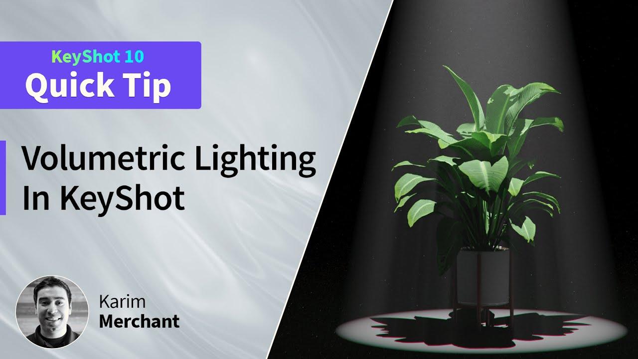 keyshot volumetric lighting tutorial