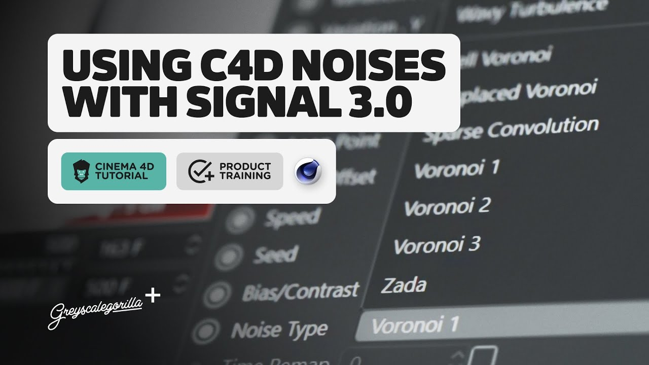 Using Cinema 4D Noises with Signal 3.0