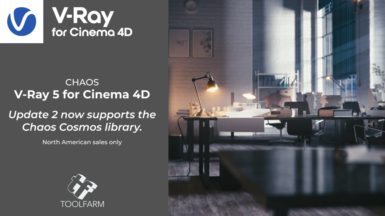 Update: V-Ray 5 for Cinema 4D Now Supports Chaos Cosmos