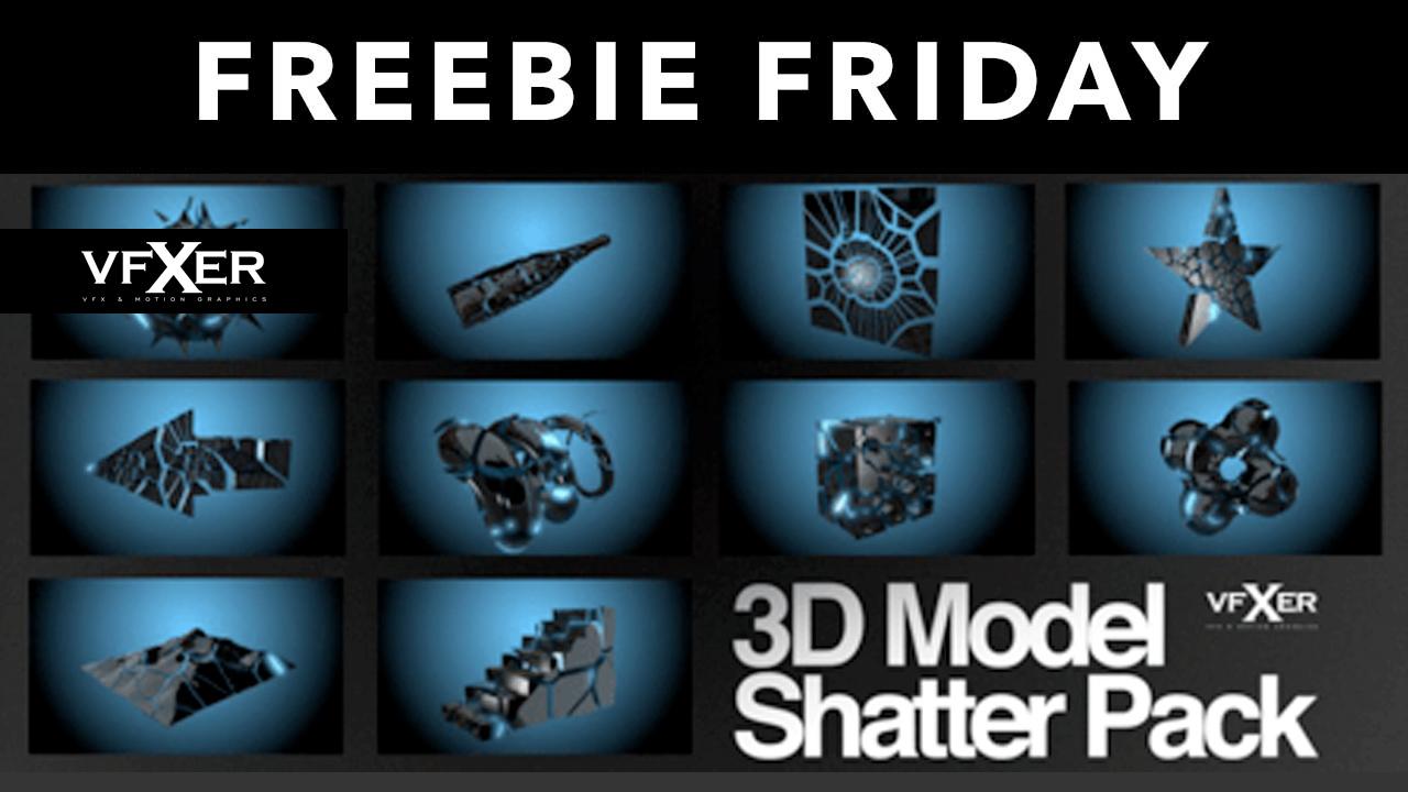 free 3d model shatter pack vfxer