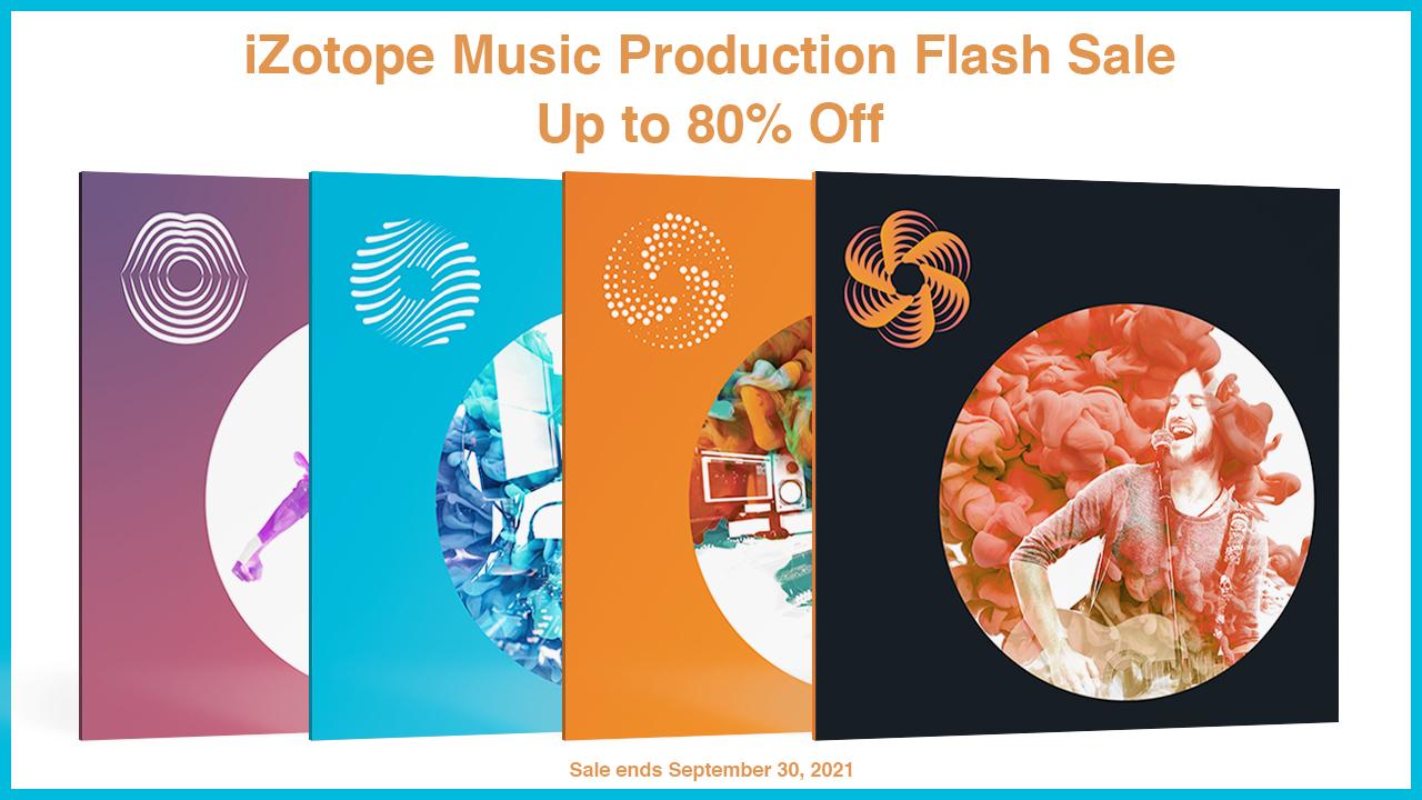 izotope music production flash sale