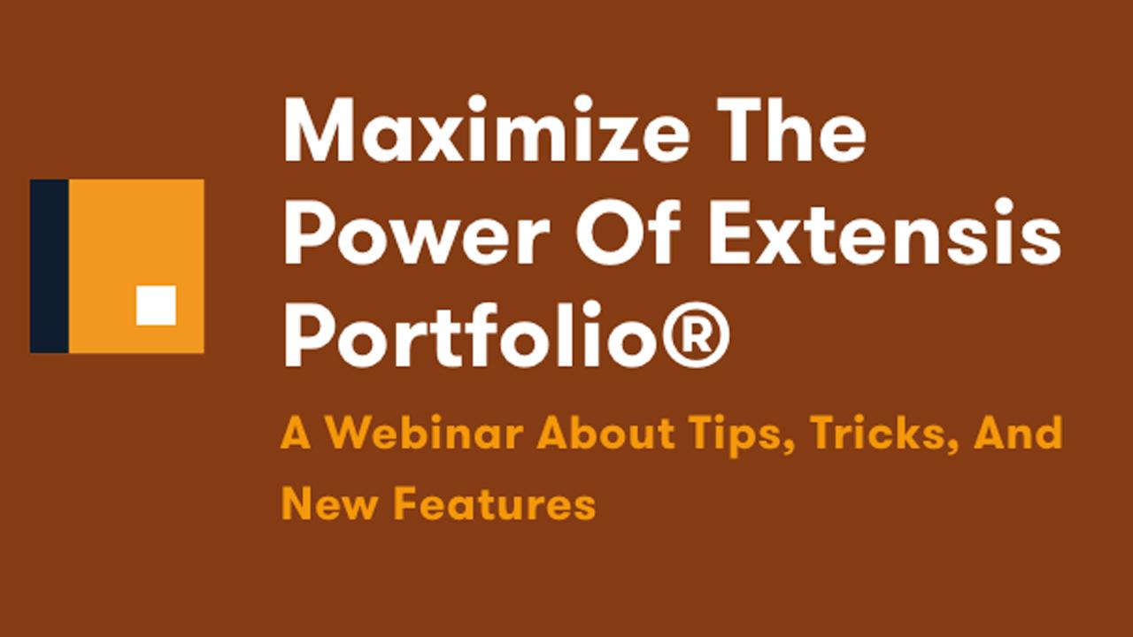 extensis portfolio webinar