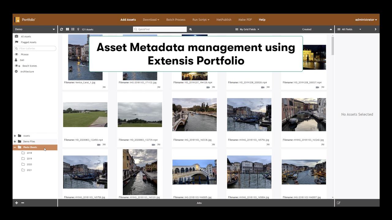 portfolio metadata tutorial