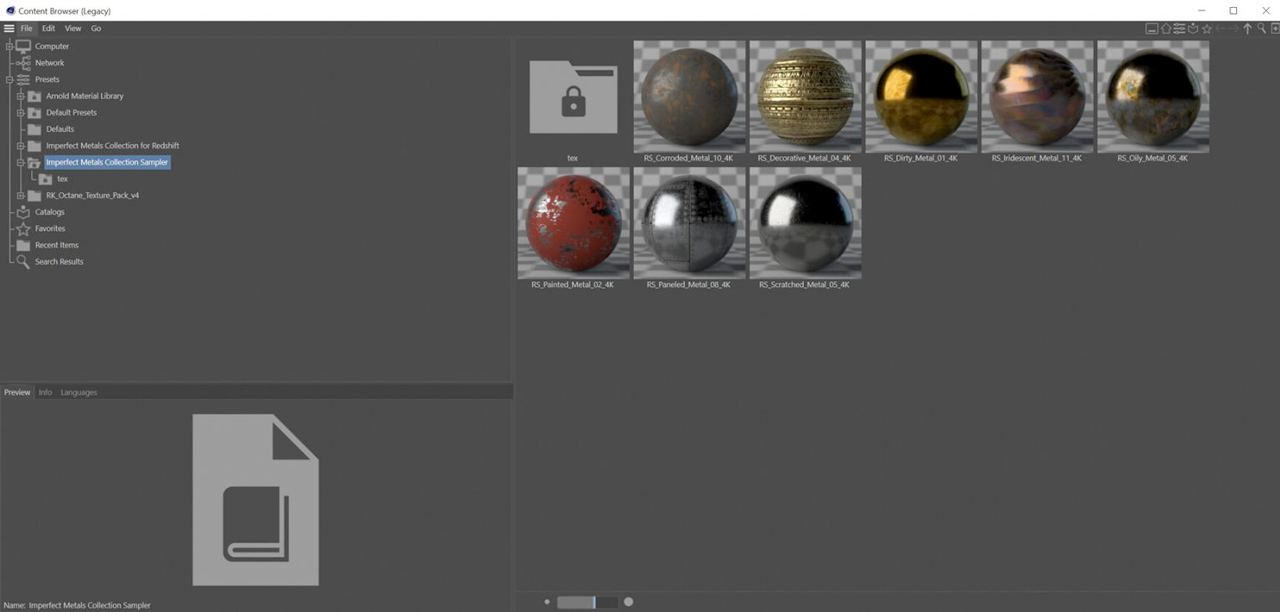 imperfect metals content browser