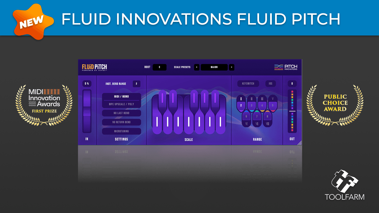 New: Pitch Innovations Fluid Pitch, One Plugin. 3 Super Powers