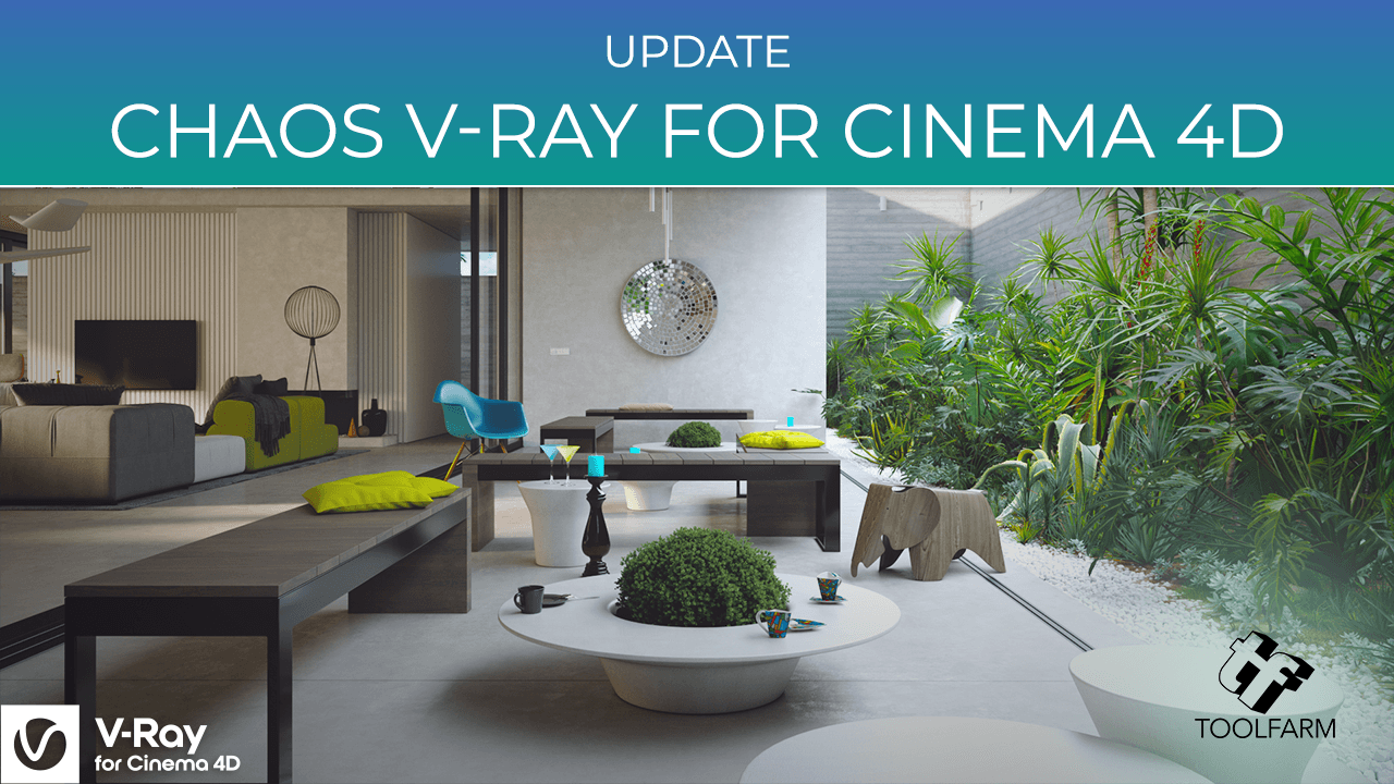 Update: Chaos V-Ray for Cinema 4D v5.10.23, Support for R25